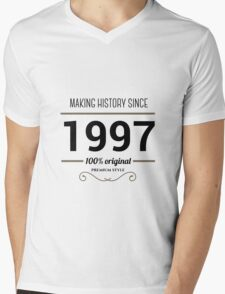 Making history since 1997 t-shirt Mens V-Neck T-Shirt