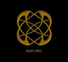 Astrology Symbol For Saturn by Vy Solomatenko