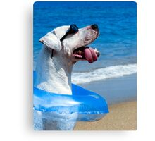 Chillin Pooch in Paradise Canvas Print