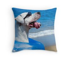 Chillin Pooch in Paradise Throw Pillow