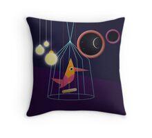 Lightbulbs at Night Throw Pillow