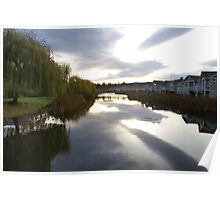 Pond in Oceanside, Vancouver Island Poster