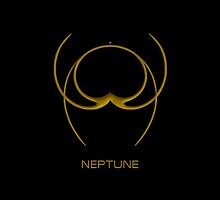 Astrology Symbol For Neptune by Vy Solomatenko