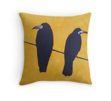 2 Rooks, 1 Wire Throw Pillow