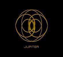 Astrology Symbol For Jupiter by Vy Solomatenko