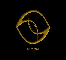 Astrology Symbol For Moon by Vy Solomatenko