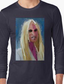 Portrait of Donatella Versace Long Sleeve T-Shirt