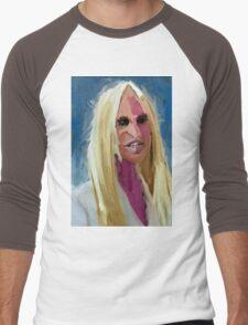 Portrait of Donatella Versace Men's Baseball ¾ T-Shirt
