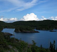 View of the Island in Hattie cove at dusk by loralea