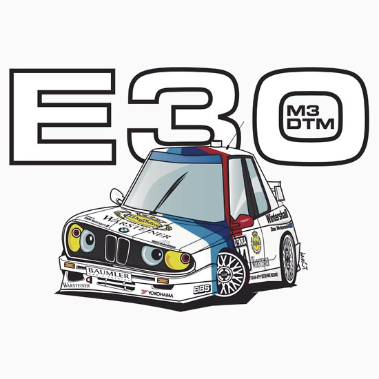 TShirtGifter presents: BMW E30 M3 DTM