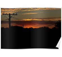 As the sun sets in the suburbs Poster