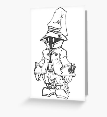 Final Fantasy 9 Vivi Greeting Card