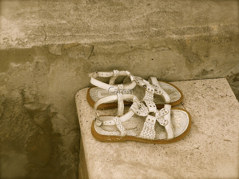 Little Shoes Left Behind by Caren