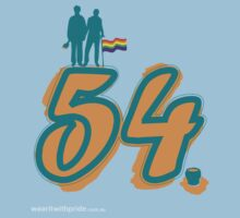 T-Shirt 54/85 (Financial) by Michelle Rose Gatt by WEAR IT WITH PRIDE (ACON)