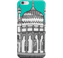 Brighton Pavilion in turquoise iPhone Case/Skin