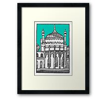 Brighton Pavilion in turquoise Framed Print