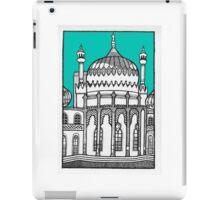 Brighton Pavilion in turquoise iPad Case/Skin