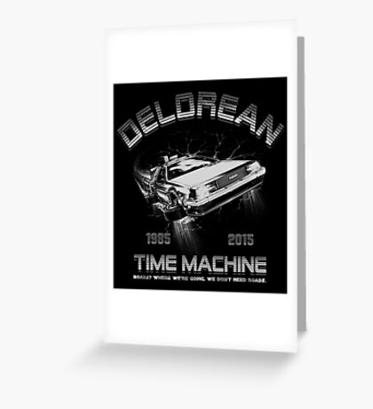 Delorean in Flight  Greeting Card