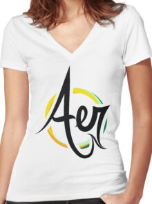 Aer Women's Fitted V-Neck T-Shirt
