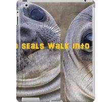 just 2 sealz iPad Case/Skin