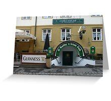 Löwenbräu and Guinness    Greeting Card