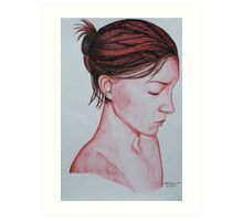 Profile in Red Art Print