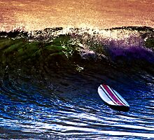 The Lone Surfer by MickDodds