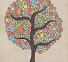Bright Bird Tree by Pip Gerard