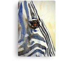 Eye of a Zebra Canvas Print
