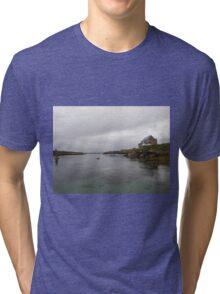 Blue Boat - Rutland Island - Donegal -  Ireland Tri-blend T-Shirt
