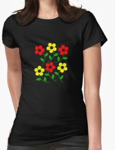 Red and Yellow Womens Fitted T-Shirt
