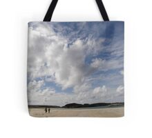 Walking Keadue Beach Donegal Ireland Tote Bag