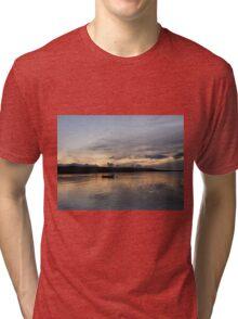 Evening Calm ,Burtonport Harbour, Donegal,Ireland Tri-blend T-Shirt