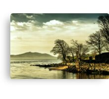 Where the river meets the sea Canvas Print
