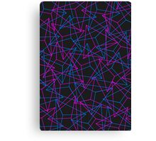 Abstract Geometric 3D Triangle Pattern in Blue / Pink Canvas Print
