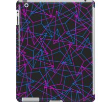 Abstract Geometric 3D Triangle Pattern in Blue / Pink iPad Case/Skin