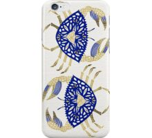 Crab – Navy & Gold iPhone Case/Skin