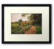 English Garden - Oxford - England Framed Print