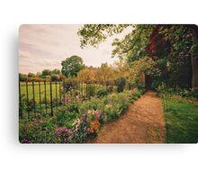 English Garden - Oxford - England Canvas Print