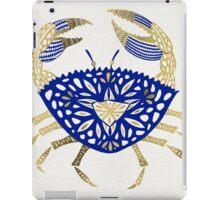 Crab – Navy & Gold iPad Case/Skin