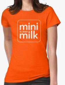 mini milk (White Ver.) Womens Fitted T-Shirt