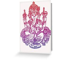 Ombre Indian Ganesh Elephant T-shirt Greeting Card