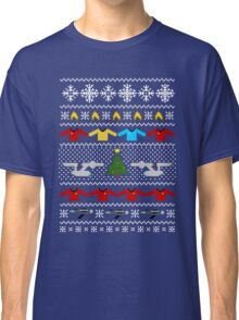 Captain's Christmas Sweater + Card Classic T-Shirt
