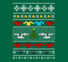 Captain's Christmas Sweater + Card Unisex T-Shirt