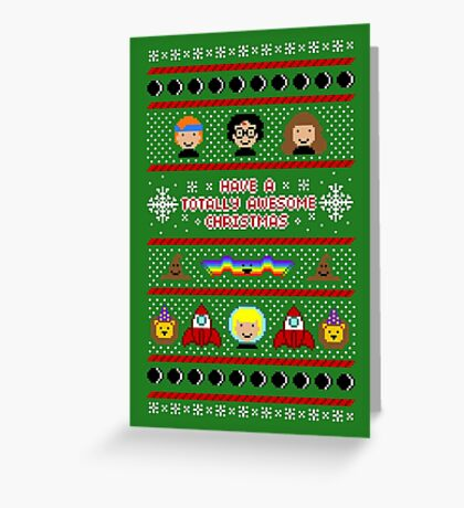 Totally Awesome Ugly Christmas Sweater + Card Greeting Card