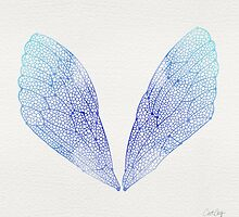 Periwinkle Cicada Wings by Cat Coquillette
