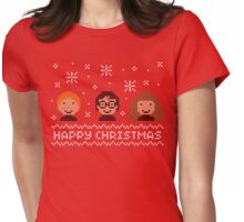 Christmas Sweater Stitch Edition  Womens Fitted T-Shirt