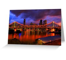 The bridge, the city & the river Greeting Card