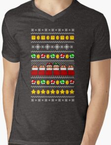 Super Ugly Christmas Sweater + Card Mens V-Neck T-Shirt
