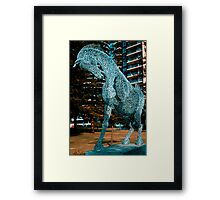 Broadbeach QLD - Blue Steel Framed Print